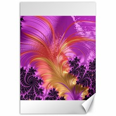 Fractal Puffy Feather Art Artwork Canvas 20  X 30