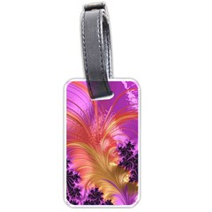 Fractal Puffy Feather Art Artwork Luggage Tags (one Side)