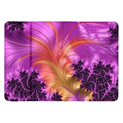 Fractal Puffy Feather Art Artwork Samsung Galaxy Tab 8 9  P7300 Flip Case