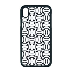Ellipse Pattern Ellipse Dot Pattern Apple Iphone Xr Seamless Case (black)
