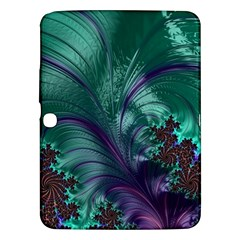 Fractal Turquoise Feather Swirl Samsung Galaxy Tab 3 (10 1 ) P5200 Hardshell Case