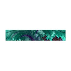 Fractal Turquoise Feather Swirl Flano Scarf (mini) by Pakrebo
