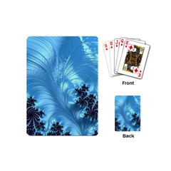 Fractal Art Feather Swirls Puffy Playing Cards (mini)