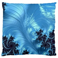Fractal Art Feather Swirls Puffy Standard Flano Cushion Case (two Sides)