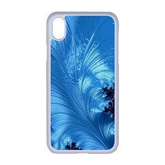 Fractal Art Feather Swirls Puffy Apple Iphone Xr Seamless Case (white)