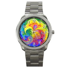 Fractal Bright Exploding Brilliant Sport Metal Watch