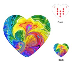 Fractal Bright Exploding Brilliant Playing Cards (heart) by Pakrebo