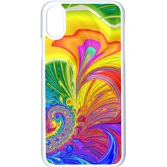 Fractal Bright Exploding Brilliant Apple Iphone X Seamless Case (white)