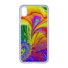 Fractal Bright Exploding Brilliant Apple Iphone Xr Seamless Case (white)