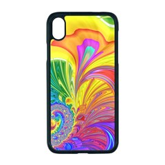Fractal Bright Exploding Brilliant Apple Iphone Xr Seamless Case (black)