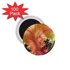 Fractal Feather Artwork Art 1 75  Magnets (100 Pack)