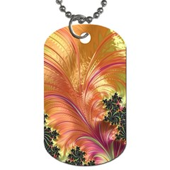 Fractal Feather Artwork Art Dog Tag (two Sides)