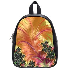 Fractal Feather Artwork Art School Bag (small)