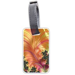 Fractal Feather Artwork Art Luggage Tags (one Side)