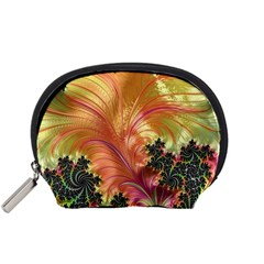 Fractal Feather Artwork Art Accessory Pouch (small)