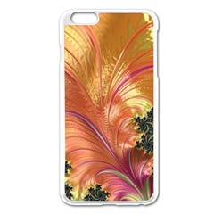 Fractal Feather Artwork Art Apple Iphone 6 Plus/6s Plus Enamel White Case by Pakrebo