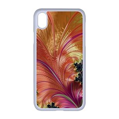 Fractal Feather Artwork Art Apple Iphone Xr Seamless Case (white)