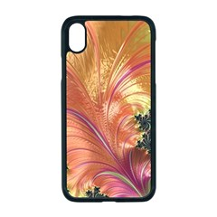 Fractal Feather Artwork Art Apple Iphone Xr Seamless Case (black)