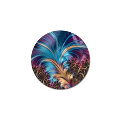 Fractal Art Artwork Psychedelic Golf Ball Marker