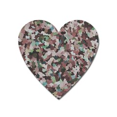 Gray Facets Heart Magnet by artifiart