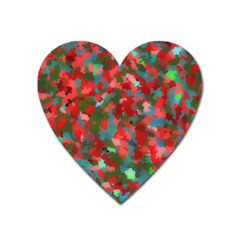 Redness Heart Magnet by artifiart