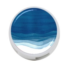 Blue Watercolor Waves 4-port Usb Hub (one Side) by goljakoff