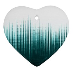 Azure Noise Waves Ornament (heart) by goljakoff