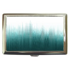 Azure Noise Waves Cigarette Money Case by goljakoff