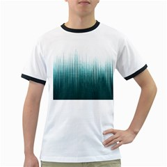 Azure Noise Waves Ringer T by goljakoff