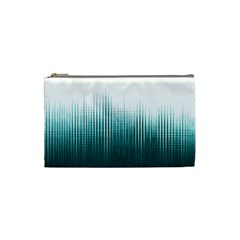 Azure Noise Waves Cosmetic Bag (small) by goljakoff