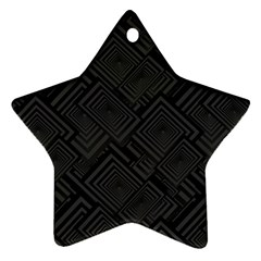 Diagonal Square Black Background Ornament (star)