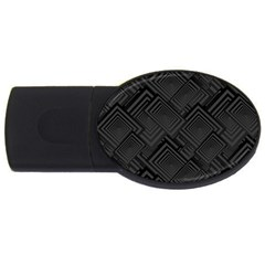 Diagonal Square Black Background Usb Flash Drive Oval (2 Gb)