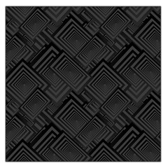 Diagonal Square Black Background Large Satin Scarf (square)