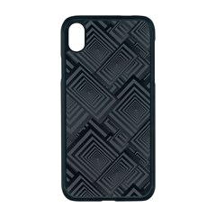 Diagonal Square Black Background Apple Iphone Xr Seamless Case (black)