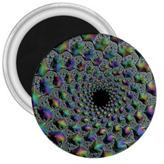 Fractal Rainbow Art Artwork Design 3  Magnets