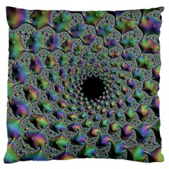 Fractal Rainbow Art Artwork Design Large Cushion Case (one Side)