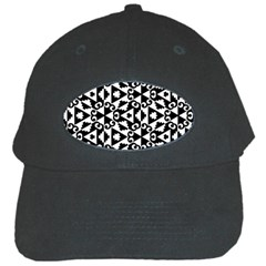 Geometric Tile Background Black Cap