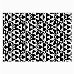 Geometric Tile Background Large Glasses Cloth (2 Side)