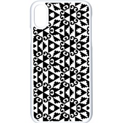 Geometric Tile Background Apple Iphone X Seamless Case (white)