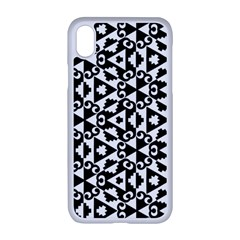 Geometric Tile Background Apple Iphone Xr Seamless Case (white)