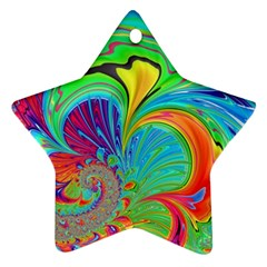 Fractal Art Psychedelic Fantasy Star Ornament (two Sides)