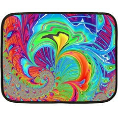 Fractal Art Psychedelic Fantasy Fleece Blanket (mini)