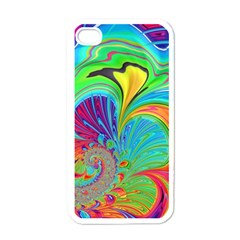 Fractal Art Psychedelic Fantasy Apple Iphone 4 Case (white) by Pakrebo