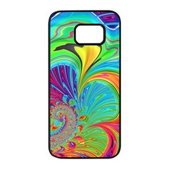 Fractal Art Psychedelic Fantasy Samsung Galaxy S7 Edge Black Seamless Case by Pakrebo