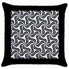 Soft Pattern Repeat Monochrome Throw Pillow Case (black)