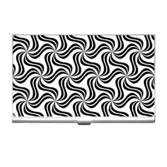 Soft Pattern Repeat Monochrome Business Card Holder by Pakrebo
