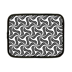 Soft Pattern Repeat Monochrome Netbook Case (small) by Pakrebo