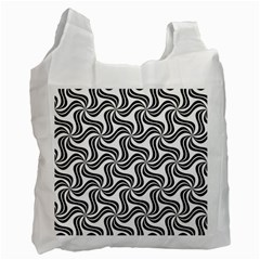Soft Pattern Repeat Monochrome Recycle Bag (two Side)