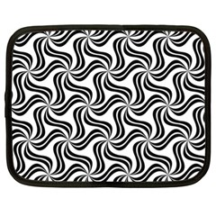 Soft Pattern Repeat Monochrome Netbook Case (xl)