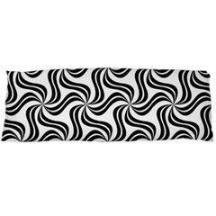 Soft Pattern Repeat Monochrome Body Pillow Case (dakimakura) by Pakrebo